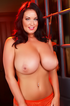 Sarah Randall is showing her big boobs